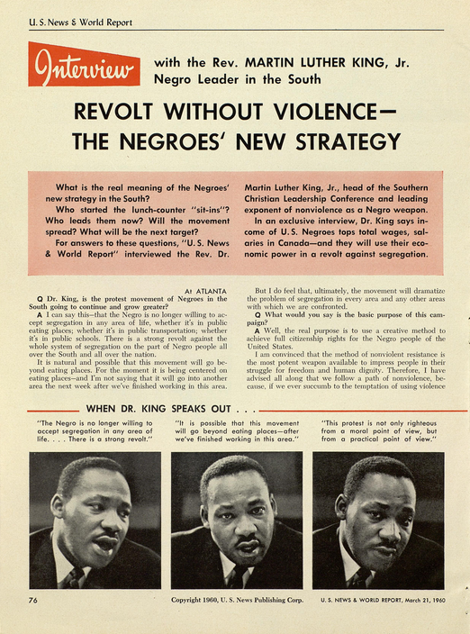 Revolt without Violence--The Negroes' New Strategy